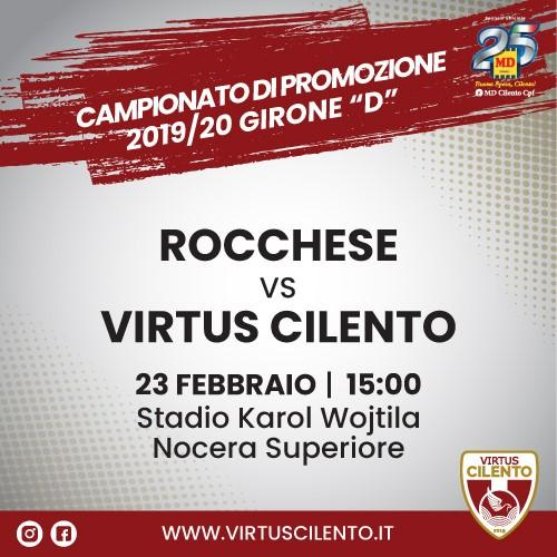 Virtus Cilento - Rocchese 23 febbraio 2020