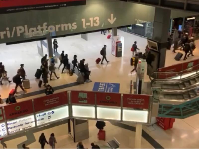 Coronavirus: fuga da Milano stazione Centrale