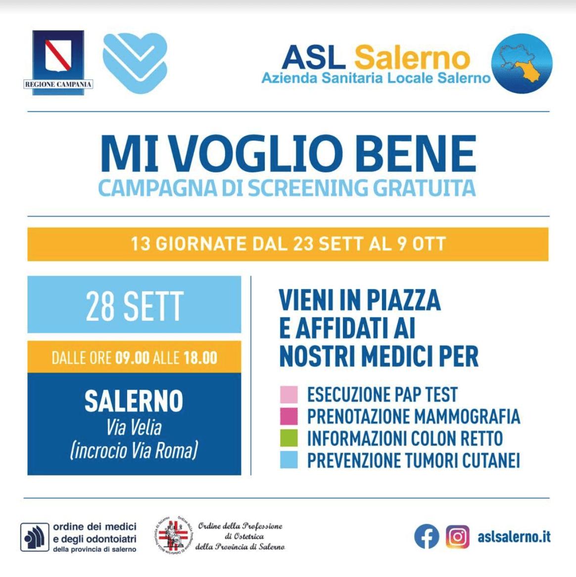 Mi voglio Bene - Camper per lo screening gratuito a Salerno