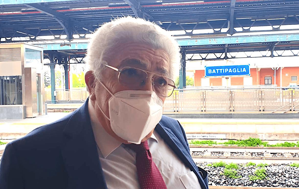Sen. Francesco Castiello Prima Fermata Frecciargento a Battipaglia